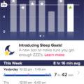 Fitbit Flex sleep tracker